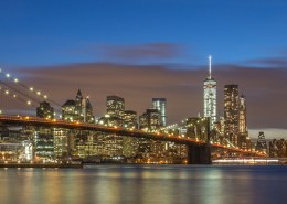 Foto's New York - Brooklyn Bridge by night panorama| Foto Tux Photography