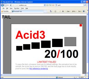 Acid3-Internet Explorer 8