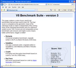 V8 Benchmark-Internet Explorer 7