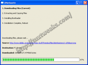 UNetbootin on Windows Downloading and Installing FreeDOS