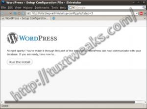 WordPress install step 4