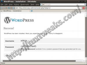 WordPress install step 6
