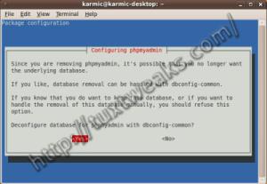 Removing phpMyAdmin