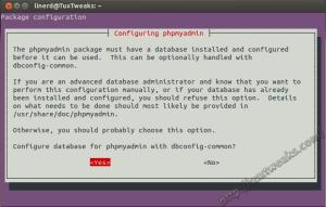 phpMyAdmin configure dbconfig-common
