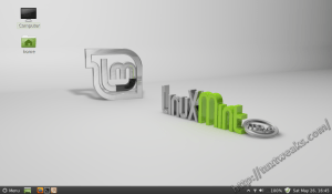 Linux Mint 13 Cinnamon Desktop
