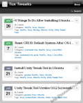 Tuxtweaks home page with WPtouch