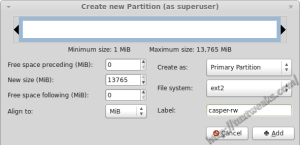 GParted Persistent Partition