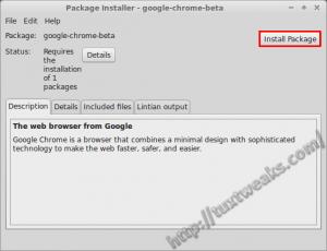 Install Chrome Beta Linux