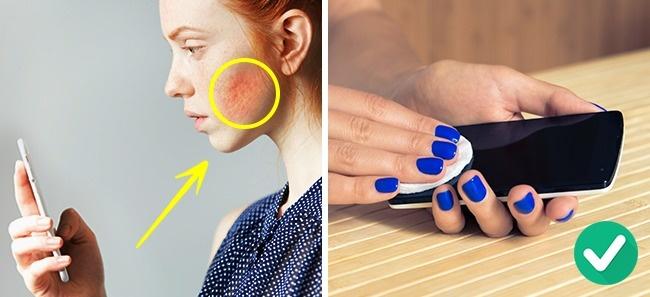 Redovno čišti telefon za zdravu kožu lica