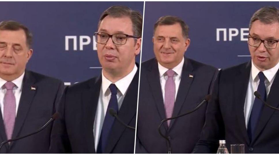 """(VIDEO) DODIKOV GOVOR TIJELA: Pogledajte kako je reagovao na Vučićevu izjavu da je """"najbolje RS sačuvati u okviru BiH"""""""