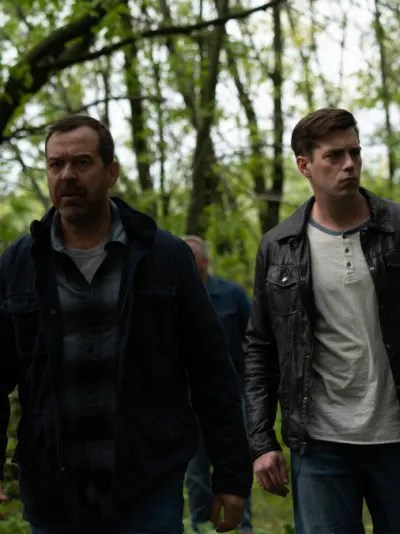 Mercer and Friends At The Chartrand Camp - Burden of Truth Season 3 Episode 4
