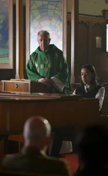 Ennis and Father Vince Before The Shooting - Coroner Season 2 Episode 5