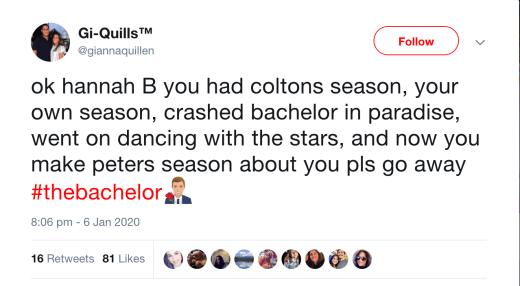 bachelor tweet