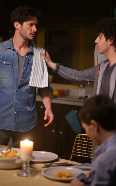 Ross and Matteo Crash Dinner - Coroner Season 2 Episode 5