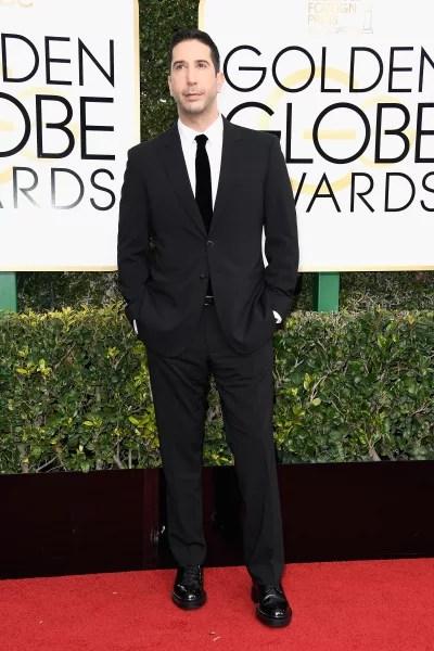 David Schwimmer Attends Golden Globes
