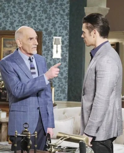 (TALL) Xander Asks Rolf For Help - Days of Our Lives
