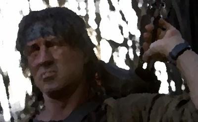 『ランボー 最後の戦場』(シリーズ4 2008年) アメリカ シルベスター・スタローン主演、ジュリー・ベンツ出演