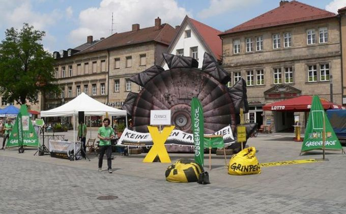 Greenpeace Aktion in Bayreuth
