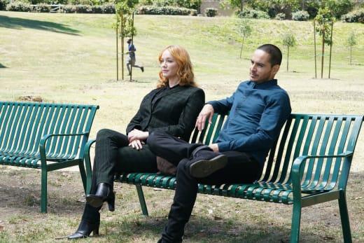 Bench Sitting - Good Girls Season 4 Episode 16