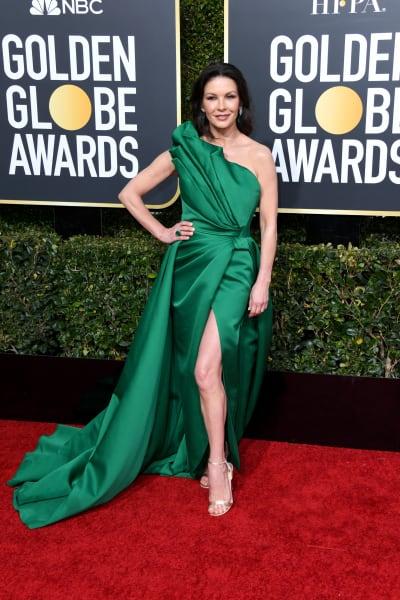 Catherine Zeta-Jones Attends Golden Globes