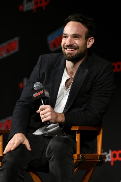 Charlie Cox Attends Daredevil Event
