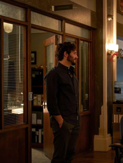 Josh is Suspicious of a Colleage - tall - In The Dark Season 3 Episode 11