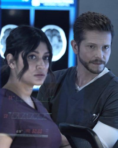 Diagnosing Devon -tall - The Resident Season 5 Episode 2
