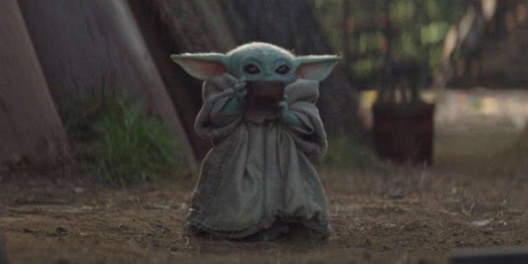 The Mandalorian Baby Yoda banner