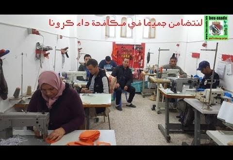 كورونا .. مؤسسة هدروق تواصل صنع الكمامات والالبسة في ليالي رمضان