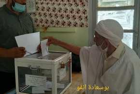سير عملية التصويت بمدرسة سيدى ثامر ببوسعادة