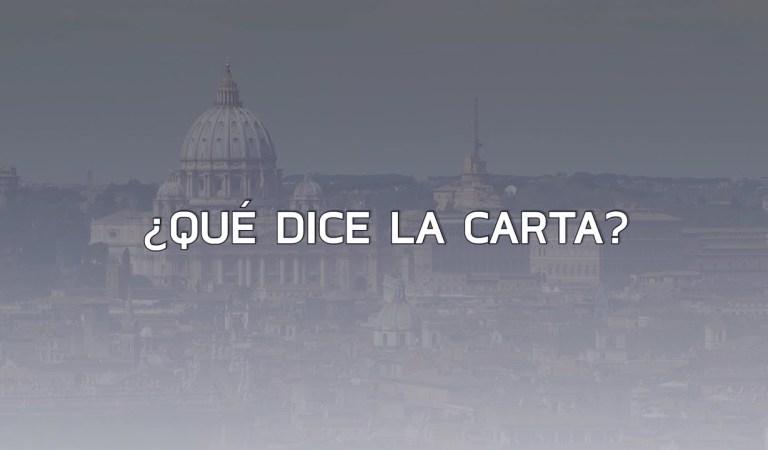 Claves sobre la carta con acusaciones al Papa Francisco