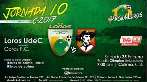 Loros vs Coras en Vivo por Internet Ascenso MX 2017