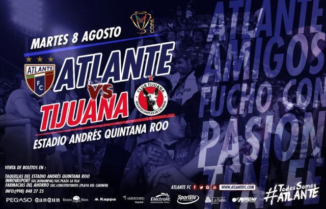 Atlante vs Xolos Tijuana en Vivo Copa MX 2017
