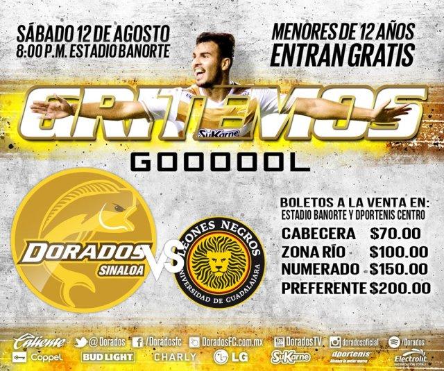 Dorados vs Leones Negros en Vivo Online Ascenso MX 2017