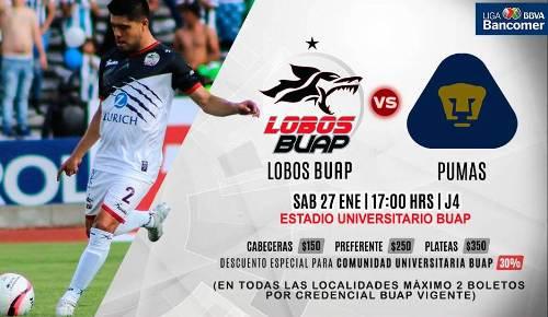Lobos BUAP vs Pumas en Vivo por Internet Ascenso MX 2018