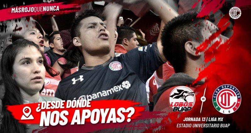 Lobos BUAP vs Toluca en Vivo Liga MX 2018