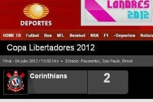 Imagem da Televisa troca bandeira do Corinthians
