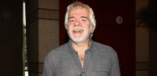 Carlos Lombardi durante a apresentação da nova grade da Record, no Hotel Hyatt, em São Paulo