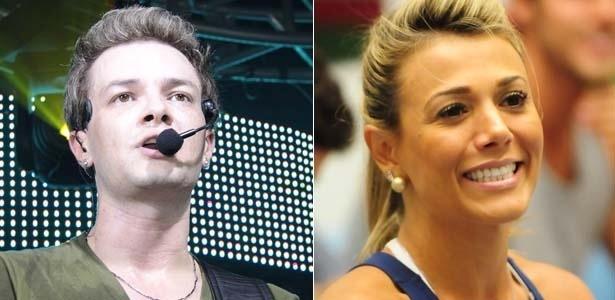 O cantor sertanejo Roby (esq.) e a BBB Fabiana (dir.)