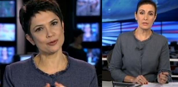 Sandra Annenberg e Fátima Bernardes vestem o mesmo modelito