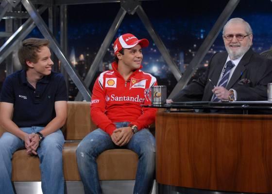 Os pilotos Victor Franzoni e Felipe Massa participam do Programa do Jô, com Jô Soares (9/8/11)
