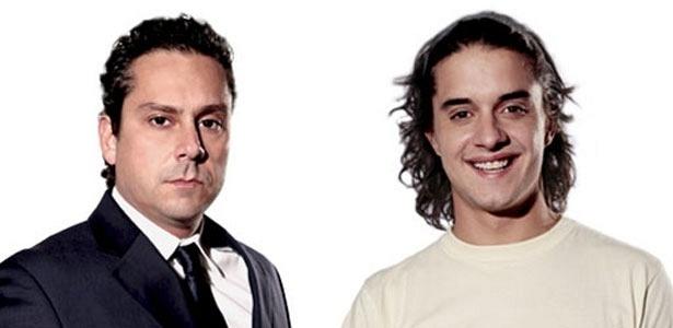 Alexandre Nero e Guilherme Boury são Baltazar e Daniel, respectivamente, em Fina Estampa