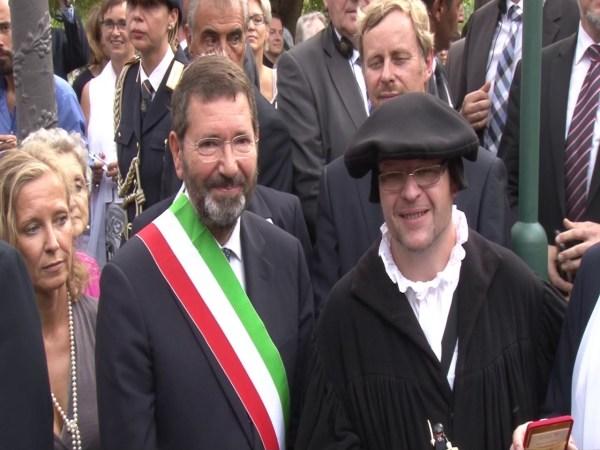 "Primarul Romei Ignazio Marino impreuna cu ""Martin Luther"""