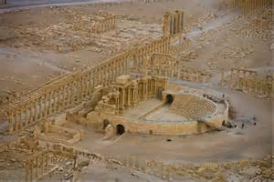 the roman teatre in Palmyra, Syria