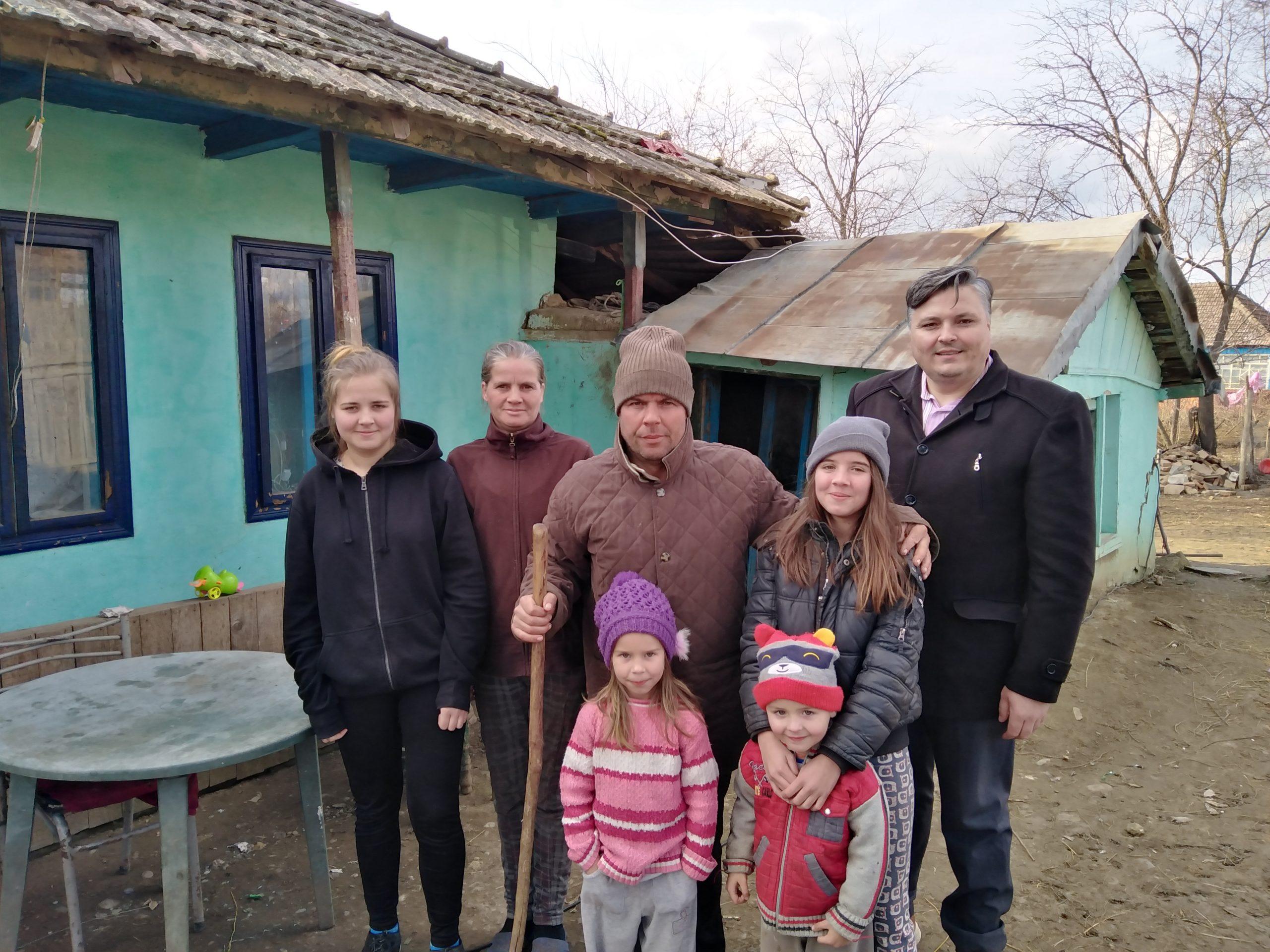 """ADRA ESTE AICI pentru familia Munteanu, prin proiectul """"În sfârșit, acasă!"""""""