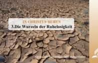 3.DIE WURZELN DER RUHELOSIGKEIT – IN CHRISTUS RUHEN | Pastor Mag. Kurt Piesslinger