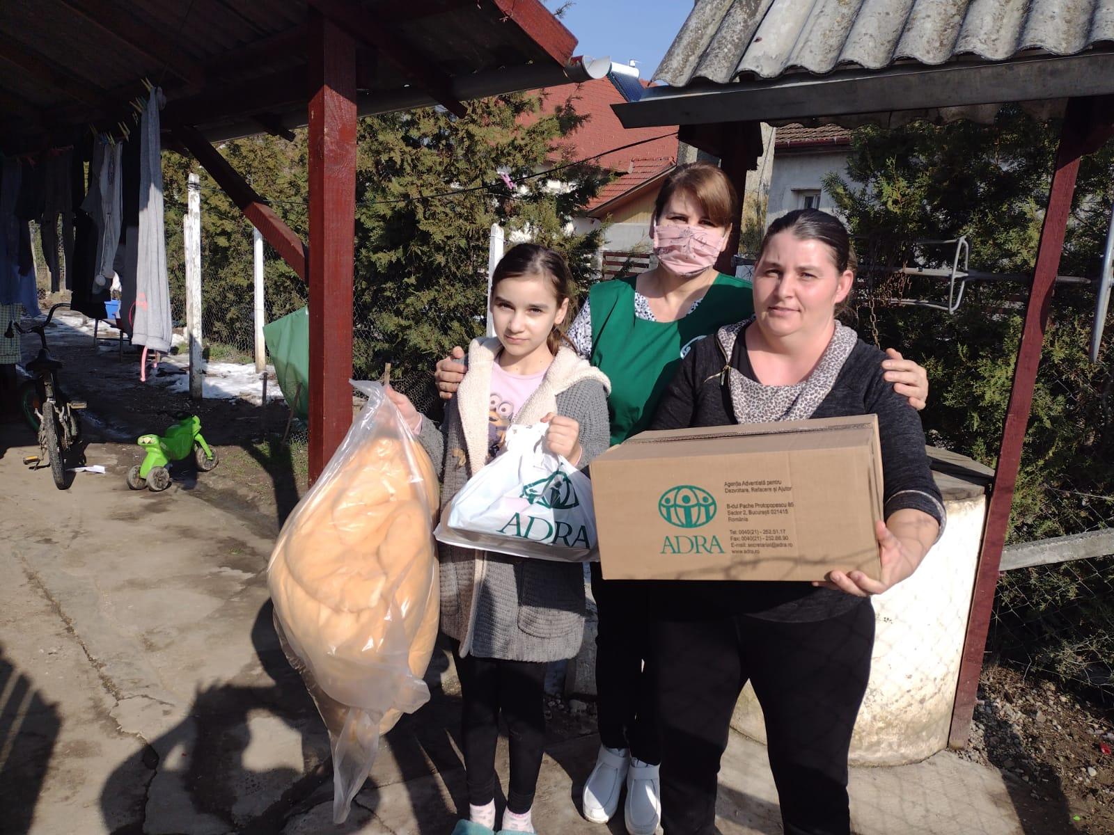 """1.146 de persoane primesc ajutor în cea de-a 57-a săptămână de implementare a proiectului ADRA """"Sprijin Umanitar COVID-19"""""""