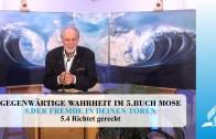 5.4 Richtet gerecht – DER FREMDE IN DEINEN TOREN | Pastor Mag. Kurt Piesslinger