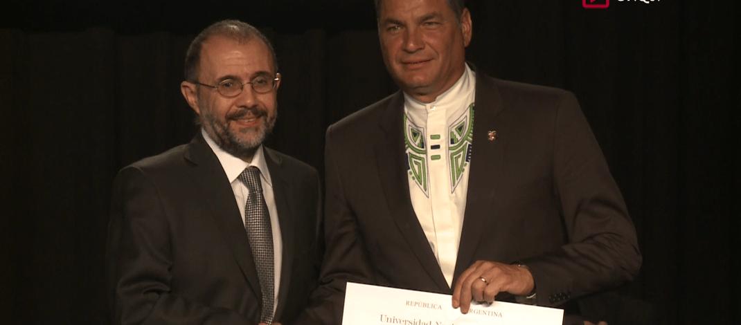 Acto Entrega Doctor Honoris Causa a Rafael Correa