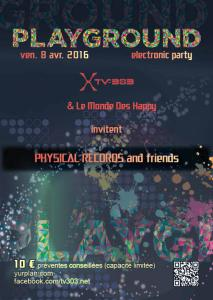 Playground Party Flyer recto